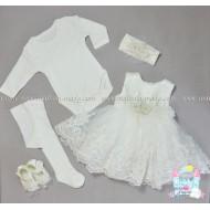 Официален комплект с рокля  Дантела - 5 части