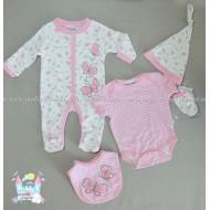 Бебешки комплект от 5 части - Пеперуди