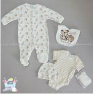 Бебешки комплект от 5 части - Таралежче