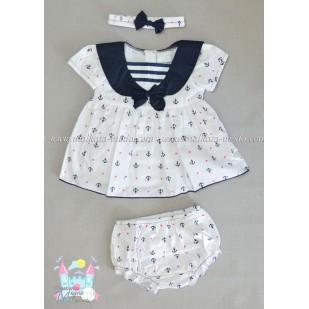 Комплект Моряче - рокличка, шорти и лента за коса
